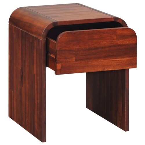 bedside table of acacia wood brown color 41,5x42 cm