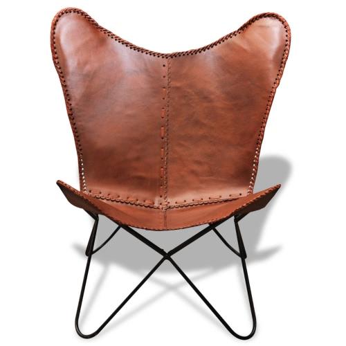 silla BKF / Cuero de la mariposa retro