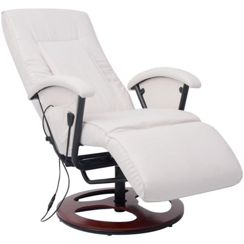 sillón de masaje shiatsu de poliuretano media densidad blanco