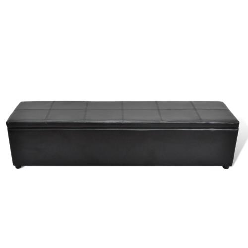 Black Storage Bench Large Size