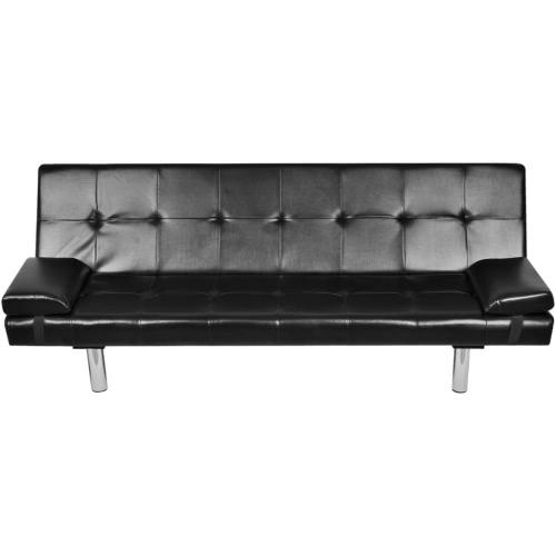 Canapé-lit avec deux oreillers __gVirt_NP_NN_NNPS<__ noir réglable