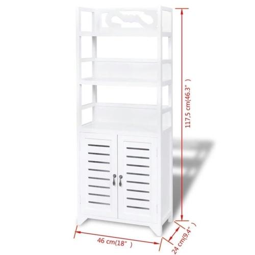 """Шкаф для ванной комнаты Albuquerque Wood White 18 """"x9.4"""" x46.3 """""""