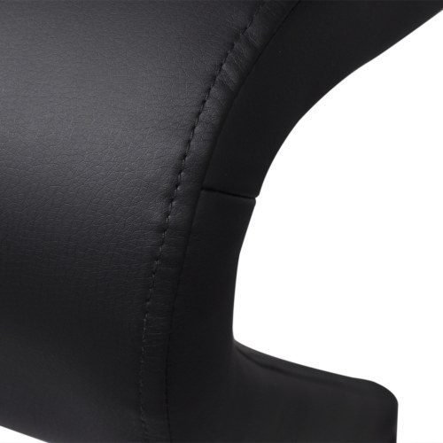 chairs cantilever chair black pleather 2 pieces