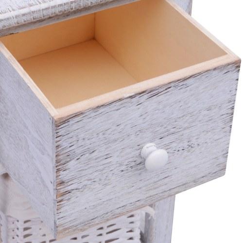 Mesita threadbare and white wooden Dressy