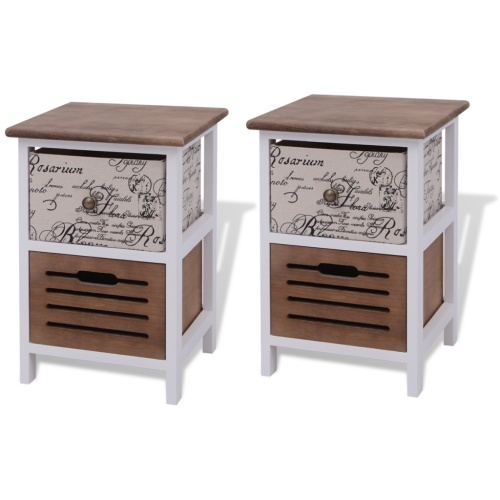 bedside table Wood 2 pieces