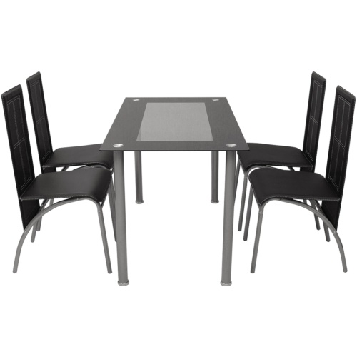 dining set  five black pieces