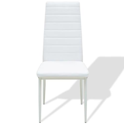 set di tavoli e sedie cinque pezzi bianchi