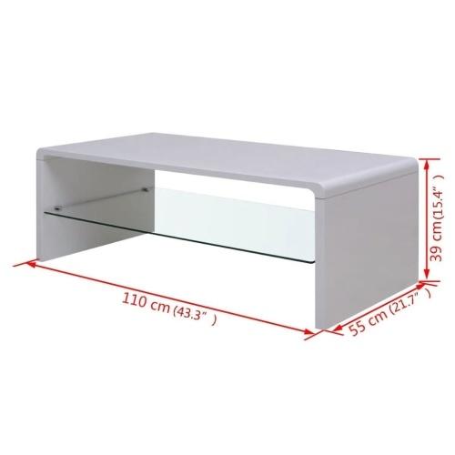 Высококачественный журнальный столик  White