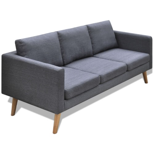 3-seater Sofa Fabric Dark Gray