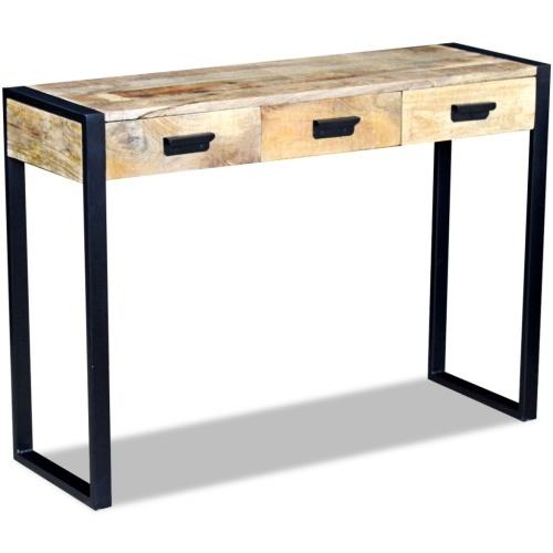 Konsolentisch mit 3 Schubladen Holzgriff 43x33x51 cm