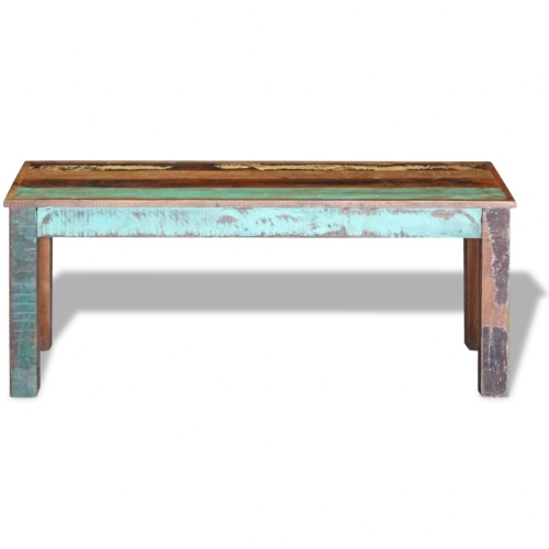 "Bench Solid Reclaimed Wood 43,3 ""x13,8"" x17,7 """