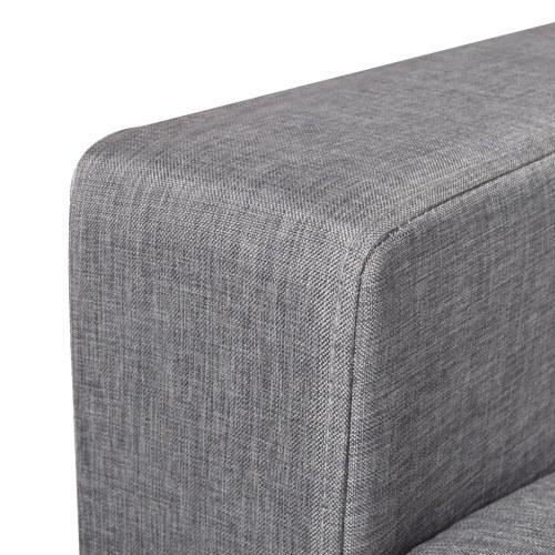 2-seater sofa light gray