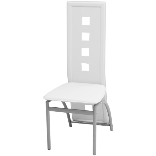 Обеденные стулья 2 шт. Белая искусственная кожа