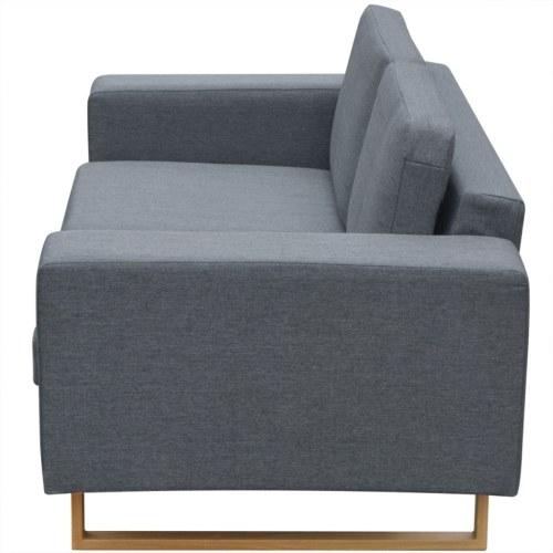 Tessuto divano 2 posti grigio chiaro