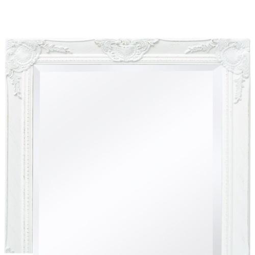 "Wall Mirror Baroque Style 39.4 ""x19.7"" Белый"