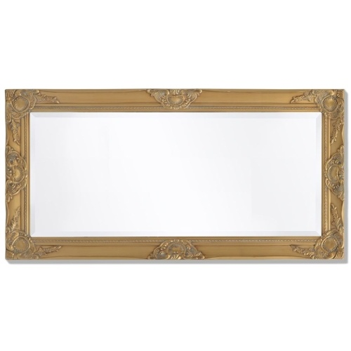 "Wall Mirror Baroque Style 39.4 ""x19.7"" Gold"