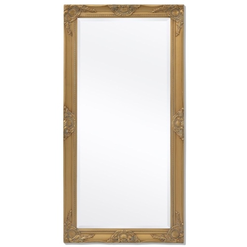 """Wall Mirror Baroque Style 47.2 """"x23.6"""" Gold"""