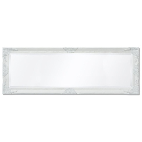 "Wall Mirror Baroque Style 55.1 ""x19.7"" Белый"
