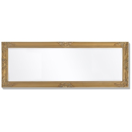 """Wall Mirror Baroque Style 55.1 """"x19.7"""" Gold"""