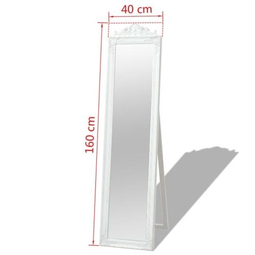 """Свободно-стоящее зеркало в стиле барокко 63 """"x15.7"""" Белый"""