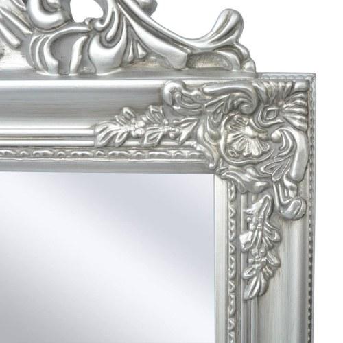 """Свободно-стоящее зеркало в стиле барокко 63 """"x15.7"""" Silver"""