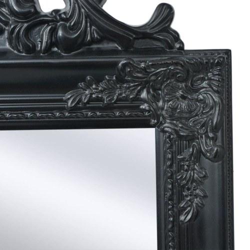 """Свободно-стоящее зеркало в стиле барокко 63 """"x15.7"""" Черный"""