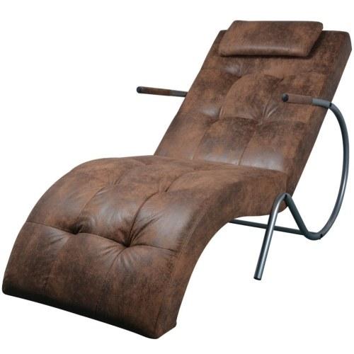 Диван с коричневой подушкой из ткани с замшей