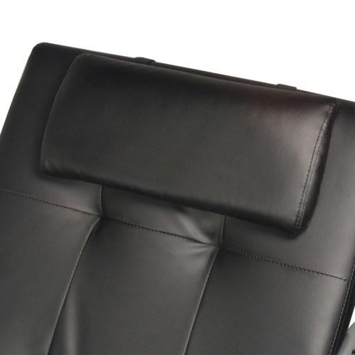Диван для кресла с черной подушкой из искусственной кожи