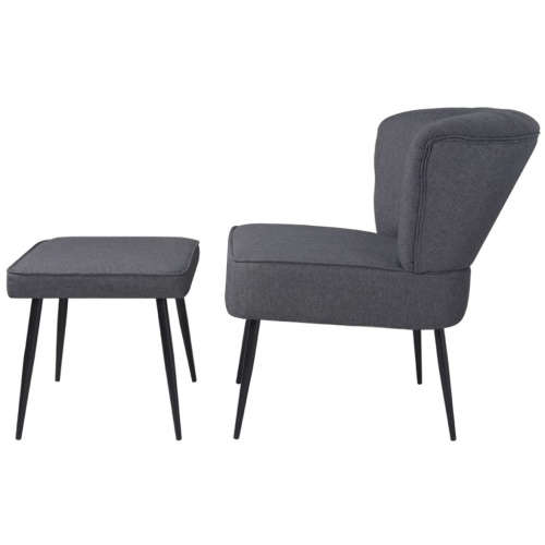 Коктейльное кресло с темно-серой подкладкой для ткани