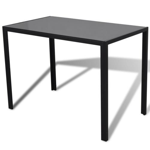 Tavolo da pranzo e sedia Seven Piece nero