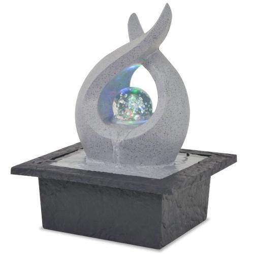 Innenwasserquelle mit Polyresin LED-Licht