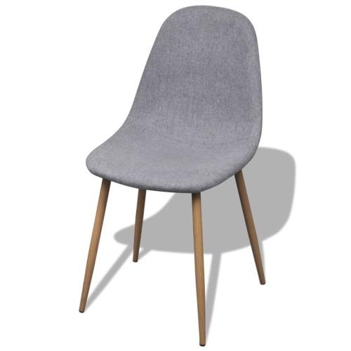 Обеденные стулья 2 шт. Ткань Светло-серый