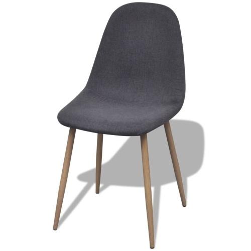 Esszimmerstühle 4 Stück Stoff Dunkelgrau