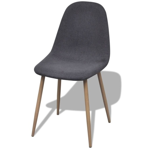 Dining Chairs 4 pcs Fabric Dark Gray