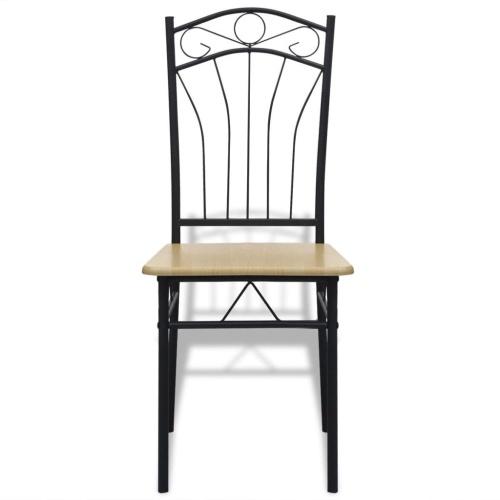 Обеденные стулья 4 шт. Светло-коричневый