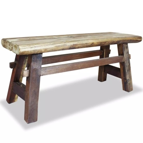 Festnight Handmade Bench Indoor Entryway Seat Hallway Bench Solid Natural Reclaimed Wood 39.4