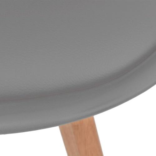 Sillas de comedor 2 unidades cuero artificial y madera gris