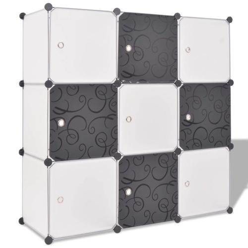 Организатор хранения кубиков с 9 отсеками Черный и Белый