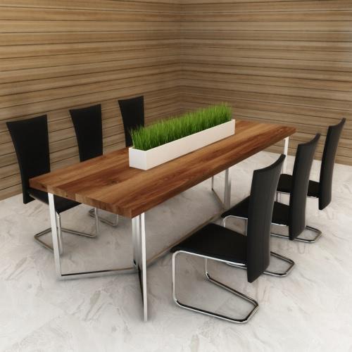 6 Negro artificiales sillas de cuero de restauración