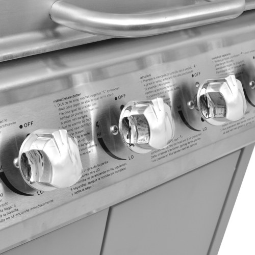 Grill gas grill 4 + 1 burner plate