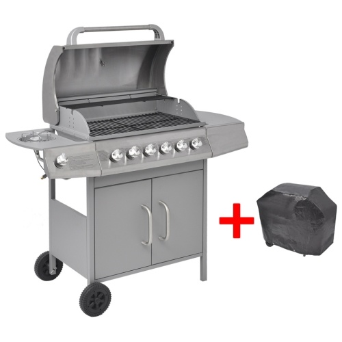 Grill gas grill 6 + 1 burner plate