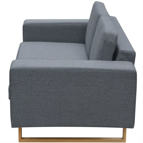 Set of 2 and 3-seater sofas light gray