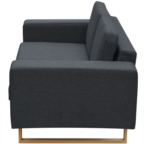 Set of 2 and 3 seater sofas dark gray