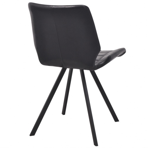 dining chairs 6 pcs artificial leather black