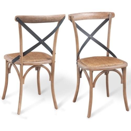 solid oak dining chairs 6 pcs 48x45x90 cm