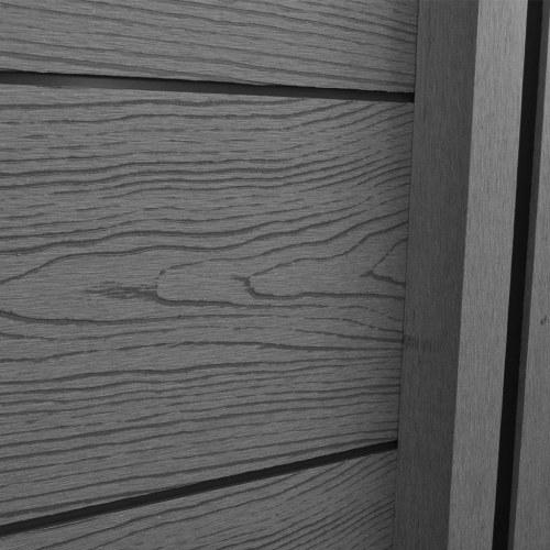 garden fence panel 3 pieces wpc gray 538 cm