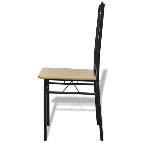 Обеденные стулья 6 шт. Светло-коричневый