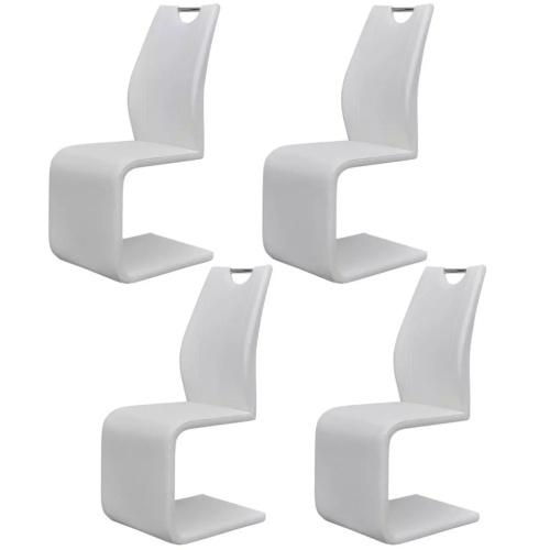 Консольные обеденные стулья 4 шт. Искусственная кожа
