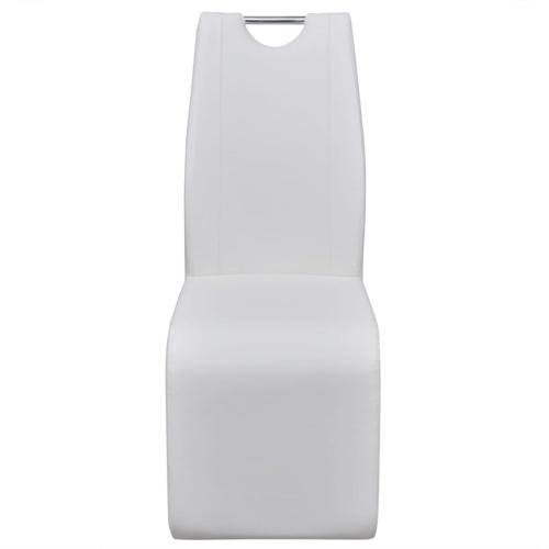 Консольные обеденные стулья 6 шт. Искусственная кожа