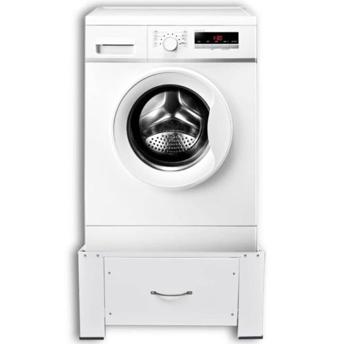 Пьедестал для стиральной машины белый с выдвижным ящиком